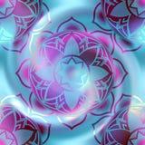 Mandalacirkelmodell på suddighetsspiralbakgrund Royaltyfri Foto