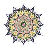Mandaladesign, dekorativa beståndsdelar för tappning, dekorativ klotterbakgrund arkivfoto