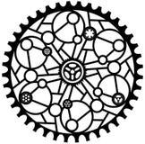MANDALADESIGN TRE vektor illustrationer