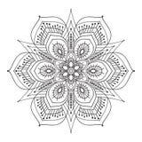 Mandalaelement van de handtekening zentangle vector illustratie