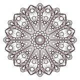 Mandalaen planlägger för vuxna färgläggningböcker, garneringar, etc. vektor illustrationer