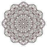 Mandalaen planlägger för vuxna färgläggningböcker, garneringar, etc. stock illustrationer