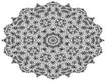 Mandalaen planlägger konst, mönstrade blommor royaltyfri illustrationer