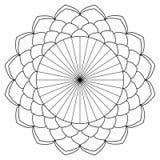 Mandalafärgläggningbok Arkivbild