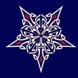 Mandalageometriestern blau-weiß-rosa stockfotos