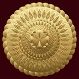 Mandalagold Rundes Verzierungs-Muster Dekorative Elemente der Weinlese Lizenzfreie Stockbilder