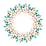 Mandalahand getrokken illustratie van de aantallen kleurrijke kroon vector illustratie