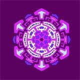 Mandalahexagonkontrast stockbild