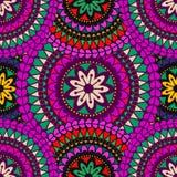 Mandalahintergrund Dekorative Elemente der Weinlese Lizenzfreies Stockfoto