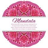 Mandalakarte oder -einladung Rote Hochzeit Stockfotografie