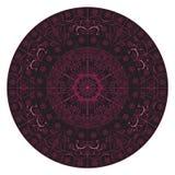 Mandalakunst Inder ausführlich schwarzes rosa verwickeltes Lizenzfreies Stockbild