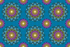 Mandalakunst, nahtlose abstrakte Blumen des Kaleidoskops tapezieren Ba vektor abbildung