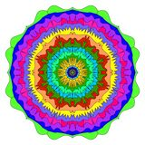 Mandalamehrfarbenillustration stockbild
