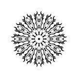 Mandalamodellen smyckar krökt garnering för geometriska cirklar royaltyfri illustrationer