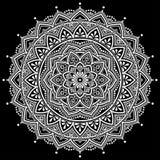 Mandalamodellvit Royaltyfri Bild