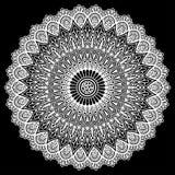 Mandalamodellvit vektor illustrationer