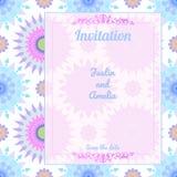Mandalamuster-Einladungskarte stock abbildung