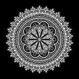 Mandalamuster Schwarzweiss Stockbild