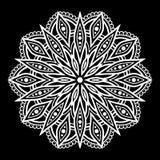 Mandalamusterweiß Stockfotos