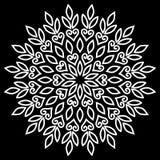 Mandalamusterweiß Stockbild