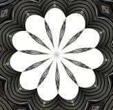 Mandalaontwerp in zwart-witte kleuren Stock Foto