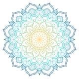 Mandalapatroon gekleurde achtergrond Vector illustratie Meditatieelement voor de yoga van India Ornament voor het verfraaien van  stock fotografie
