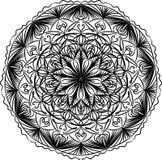 Mandalarundamodell Dekorativ prydnad i cirkel stock illustrationer
