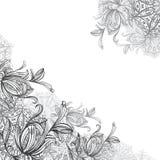 Mandalas και διακοσμητικά λουλούδια Στοκ Φωτογραφία