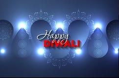 Mandalas και κηροπήγια για Diwali ελεύθερη απεικόνιση δικαιώματος