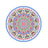 Mandalas λουλουδιών Ασιατική διακοσμητική απεικόνιση σχεδίων Ισλάμ, Αραβικά, Ινδός, Τούρκος, κινεζικά, οθωμανικά μοτίβα του Πακισ ελεύθερη απεικόνιση δικαιώματος