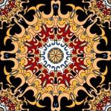 mandalas πρότυπο άνευ ραφής διακοσμητικός τρύγος στ&o Στοκ Εικόνες