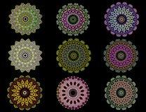 Mandalas colorés Image stock