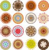 Mandalas coloreadas Imagen de archivo libre de regalías