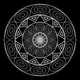 Mandalas for coloring book. Decorative black and white round outline ornament. Unusual flower shape. Oriental and anti-stress ther. Apy patterns. yoga logos stock illustration