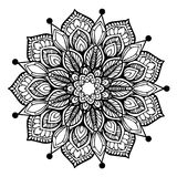 Mandalas for coloring book. Decorative round ornaments. Unusual flower shape. Oriental vector, Anti-stress therapy patterns. Weave. Design elements. Yoga logos stock illustration