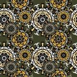 mandalas Configuration sans joint Éléments décoratifs de cru Illustration de vecteur Images stock