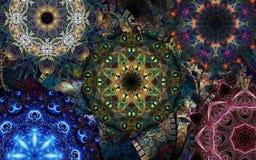 Mandalas décoratifs Images libres de droits