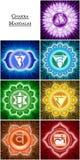 Mandalas de Chakra Foto de Stock Royalty Free