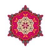 Mandalas de fleur Éléments décoratifs de cru Photos stock