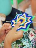 Mandalas de tricotage de classe. Profondeur de champ Image stock