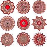 Mandalas del amor Imagen de archivo libre de regalías