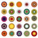 mandalas del vector Sistema coloreado de la mandala Fotografía de archivo