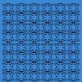 Mandalas exotiques de luxe bleus, lignes noires vint photographie stock libre de droits