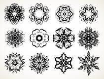 Mandalas fleuris de griffonnage Photographie stock