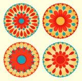 Mandalas florales stock de ilustración