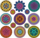 Mandalas grandes y pequeñas determinadas Foto de archivo libre de regalías