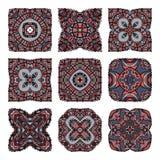 Mandalas inkasowi Round ornamentu wzór elementu dekoracyjny rocznik sporządzić tła ręka Ilustracja Wektor