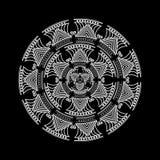 mandalas Modèle rond d'ornement Éléments décoratifs de cru Image libre de droits