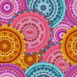 Mandalas naadloos patroon Royalty-vrije Stock Afbeeldingen