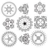Mandalas på en vitbakgrund (vektorn) Royaltyfri Fotografi